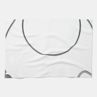 Wire leader vector illustration clip-art fishing kitchen towel