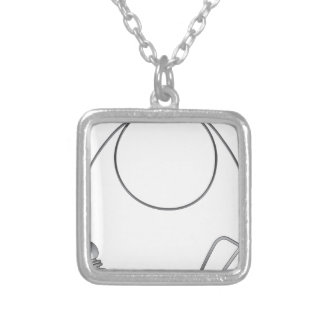 Wire leader vector illustration clip-art fishing silver plated necklace