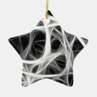 wire weave ceramic ornament