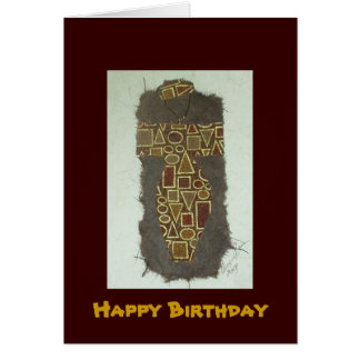 Wire Woman Ethnic Happy Birthday Card