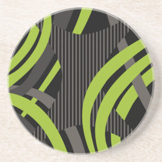 Wired Green Tote Bag Coasters