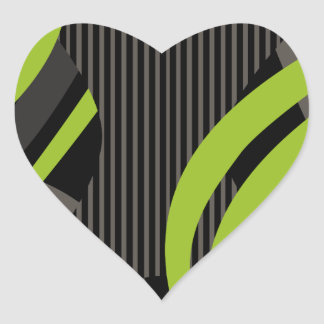 Wired Green Tote Bag Heart Sticker