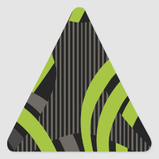 Wired Green Tote Bag Triangle Sticker