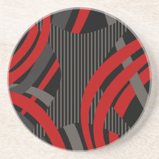 Wired Red Tote Bag Coaster