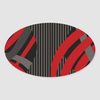 Wired Red Tote Bag Oval Sticker