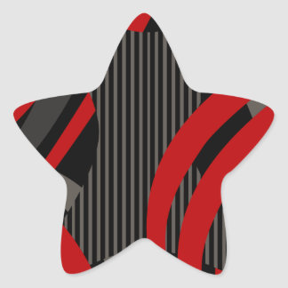 Wired Red Tote Bag Star Sticker