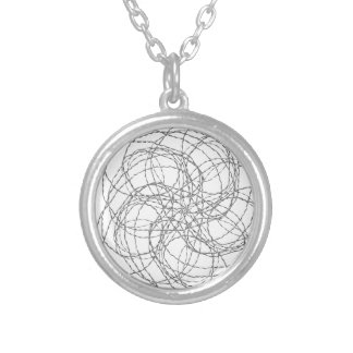 Wired Silver Plated Necklace