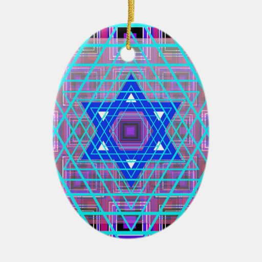 Wired Star of David. Christmas Ornament