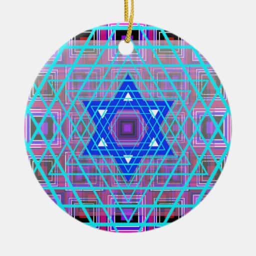 Wired Star of David. Christmas Tree Ornaments