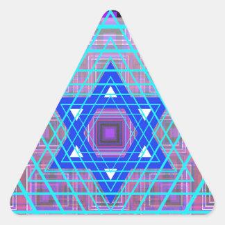 Wired Star of David. Triangle Sticker