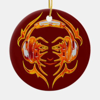 Wired Up For Music Ceramic Ornament