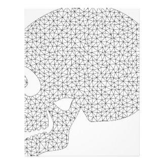 Wireframe Skull Letterhead