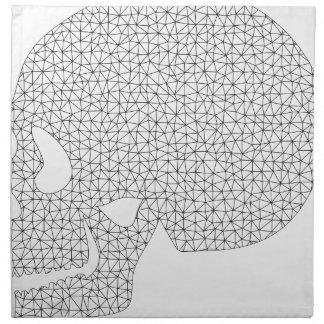 Wireframe Skull Napkin
