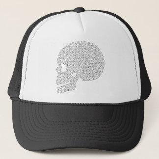 Wireframe Skull Trucker Hat