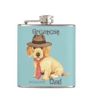Wirehaired Dachshund Dad Hip Flask