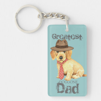 Wirehaired Dachshund Dad Keychain