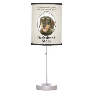 Wirehaired Dachshund Mom Lamp