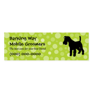 Wirehaired Fox Terrier Pet Care Lime Business Card Templates