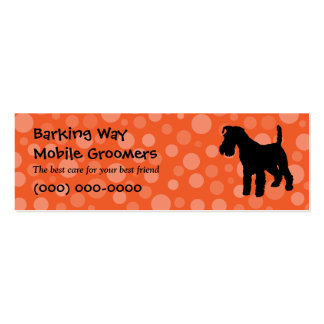 Wirehaired Fox Terrier Pet Care Orange Mini Business Card