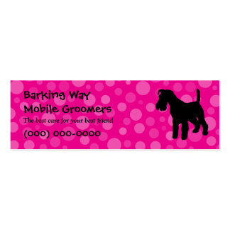Wirehaired Fox Terrier Pet Care Pink Business Card Template