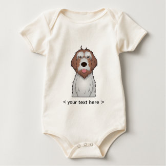 Wirehaired Pointing Griffon Cartoon Personalized Baby Bodysuit