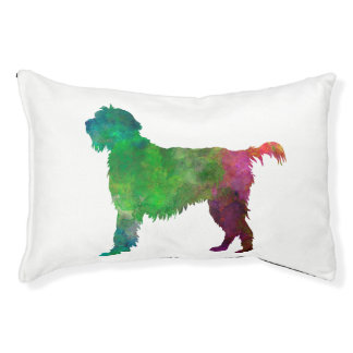 Wirehaired Pointing Griffon Korthals in watercolor Pet Bed