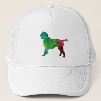 Wirehaired Pointing Griffon Korthals in watercolor Trucker Hat