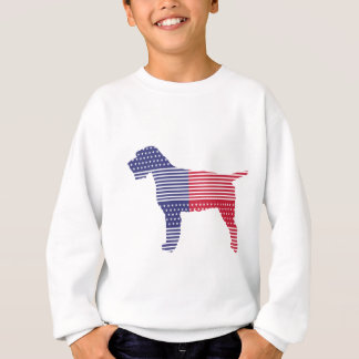 Wirehaired Pointing Griffon Patriotic Dog Red Blue Sweatshirt