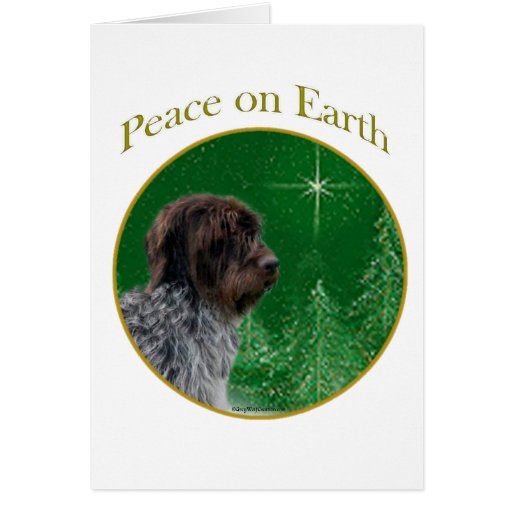 Wirehaired Pointing Griffon Peace Greeting Cards