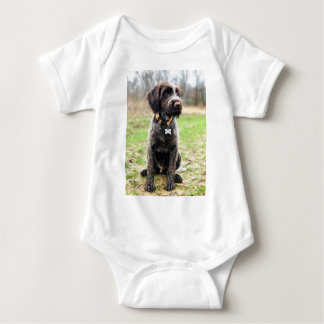 Wirehaired pointing Griffon puppy Baby Bodysuit