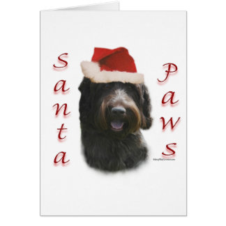 Wirehaired Pointing Griffon Santa Paws Card