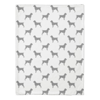 Wirehaired Pointing Griffon Silhouettes Pattern Duvet Cover
