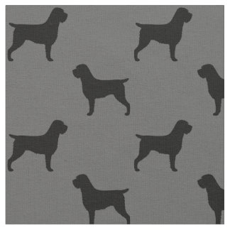 Wirehaired Pointing Griffon Silhouettes Pattern Fabric
