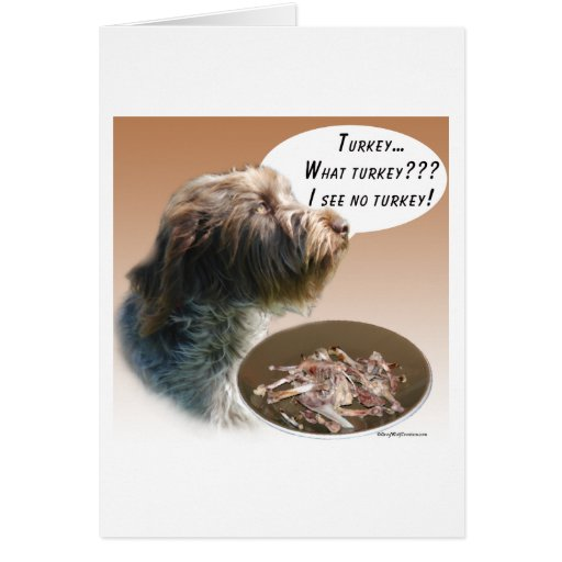 Wirehaired Pointing Griffon Turkey Card