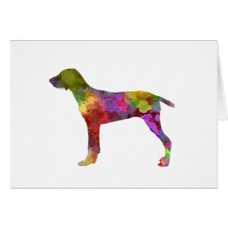 Wirehaired Slovakian Pointer in watercolor-2 Card
