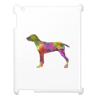 Wirehaired Slovakian Pointer in watercolor-2 iPad Case
