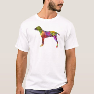 Wirehaired Slovakian Pointer in watercolor-2 T-Shirt