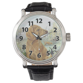 Wirehaired Vizsla Puppy Dreamer Wristwatch