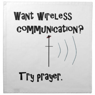 Wireless Communication Prayer Napkin