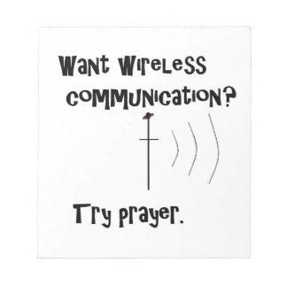 Wireless Communication Prayer Notepad