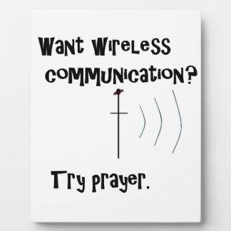 Wireless Communication Prayer Plaque