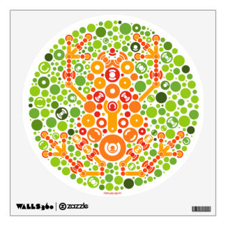 Wireless Frog, Color Perception Test Wall Sticker