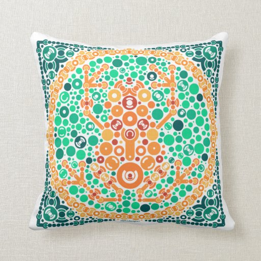 Wireless Frog, Color Perception Test, White Pillow