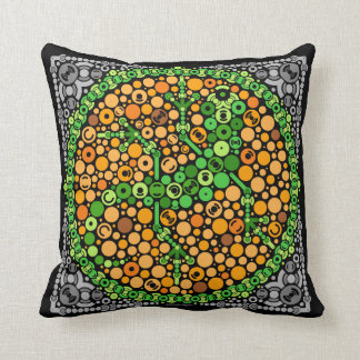 Wireless Gecko, Color Perception Test, Black Throw Pillows
