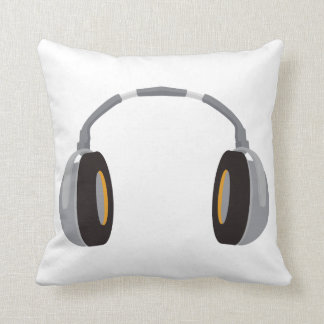 Wireless Headphone Throw Pillow