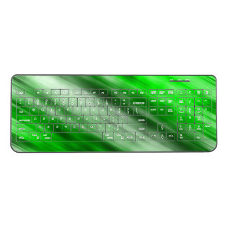 Wireless keyboard, abstract art, green. wireless keyboard