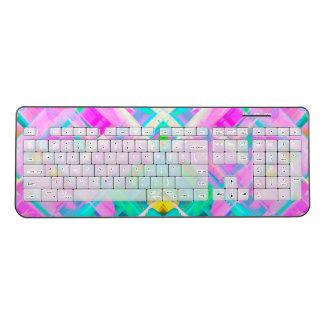 Wireless Keyboard Colorful digital art G473