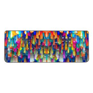 Wireless Keyboard Colorful digital art splashing