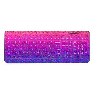 Wireless Keyboard Glitter Star Dust