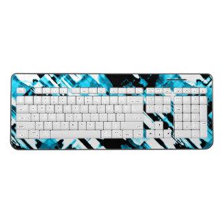 Wireless Keyboard Hot Blue Black digitalart G253